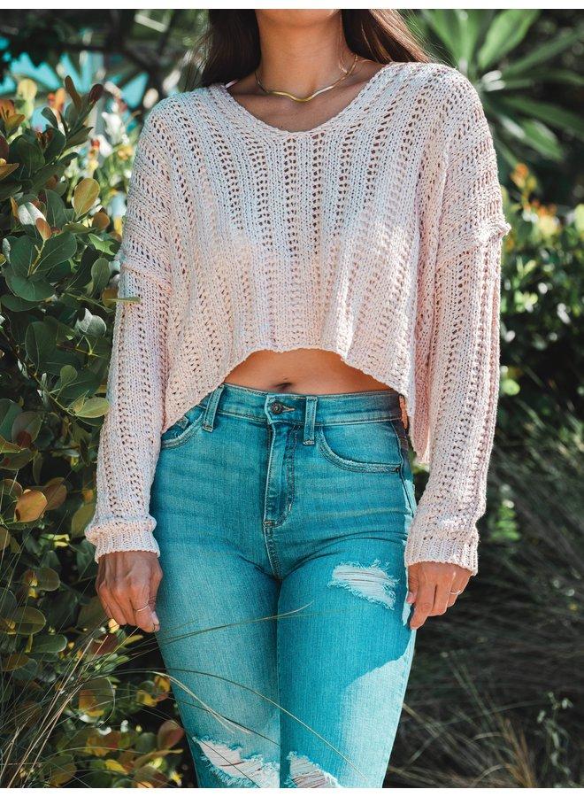 Blush V Sweater