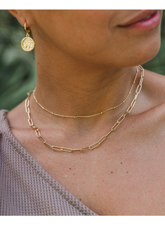 Sofie Medium Paperclip Chain Necklace