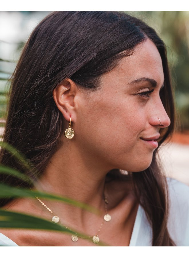 A Real Treasure Coin Earrings