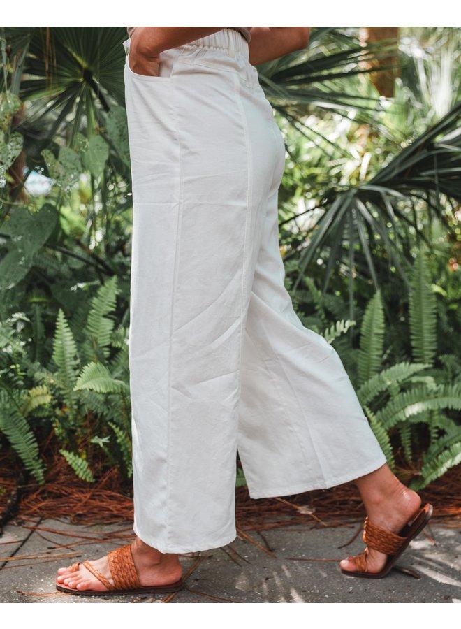 Sadie White Wide Leg Pant