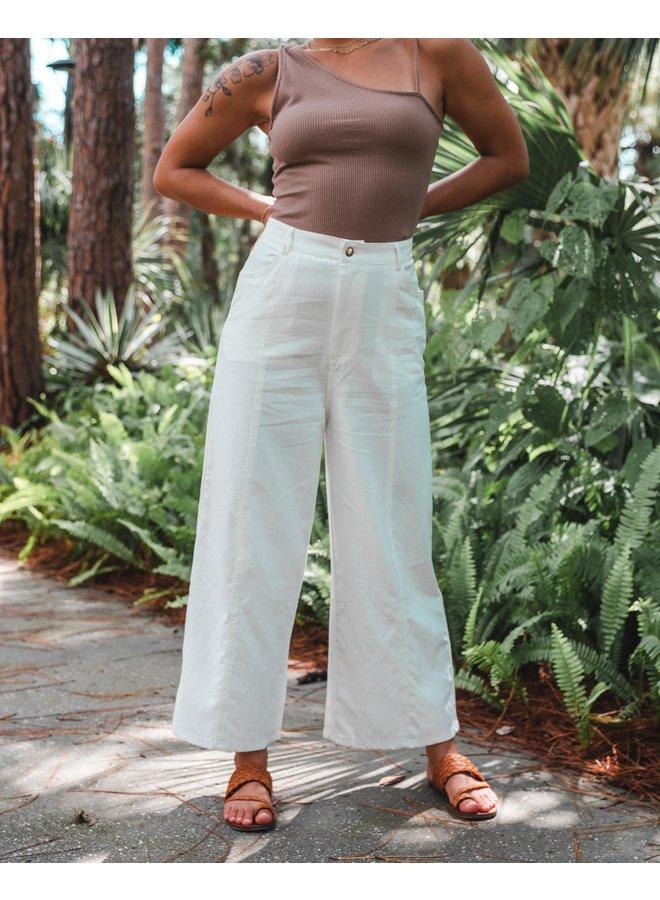 Willow White Wide Leg Pants