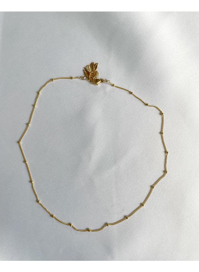 Gold Daisy Delicate Ball Chain
