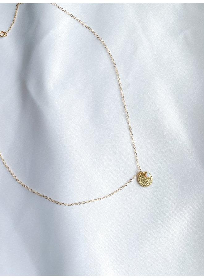 Odessa Opal Coin Necklace