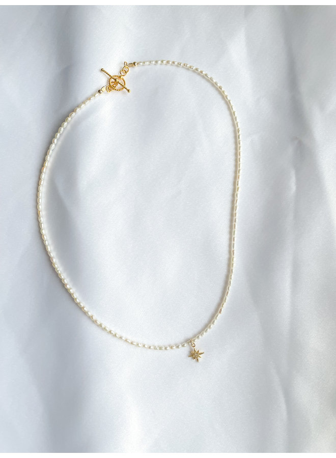 Starburst W/Pearl Necklace