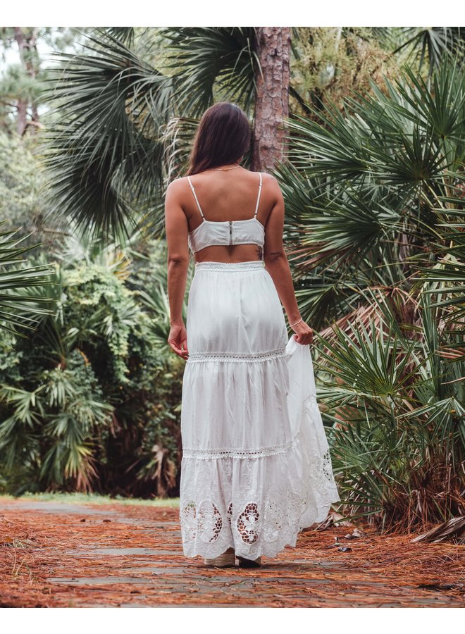 Off White The Sang Lace Maxi Skirt