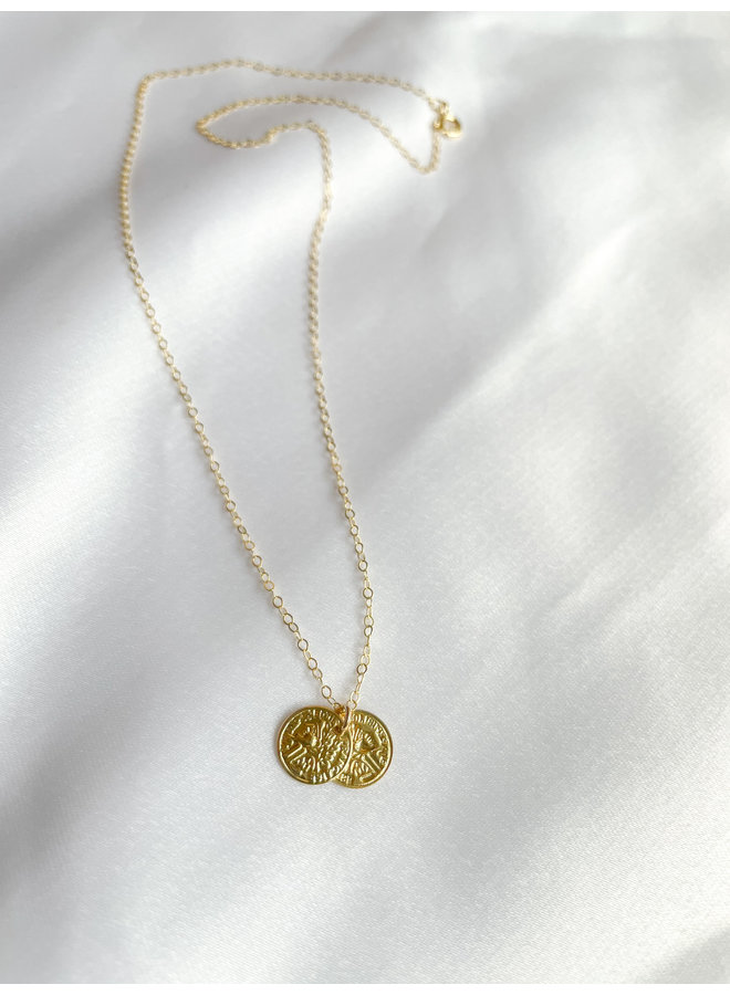 Gold Petite Coin Necklaces