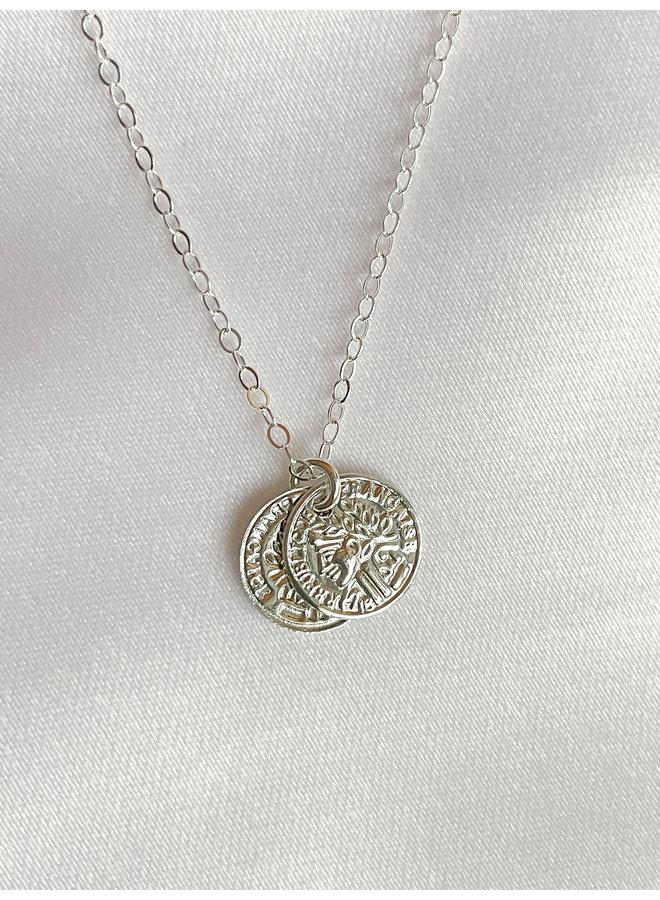 Alexis Silver Petite Coins Necklace