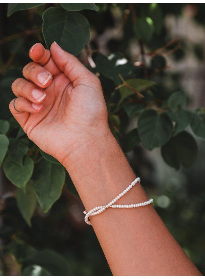 Pearly Double Wrap Bracelet