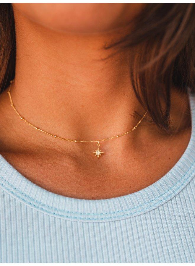 Stella Starburst Necklace Gold