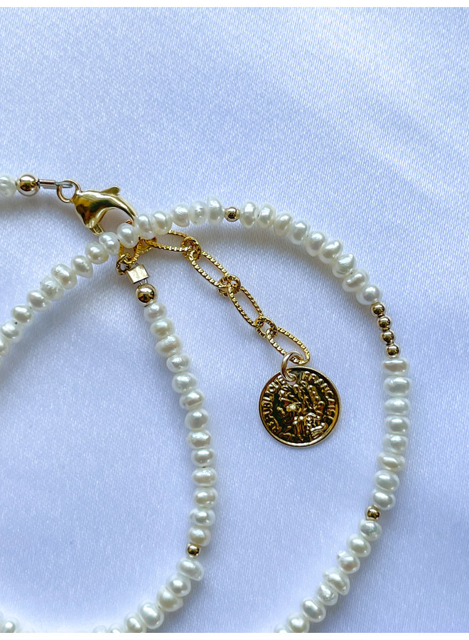 Pearl Dbl Wrap Bracelet
