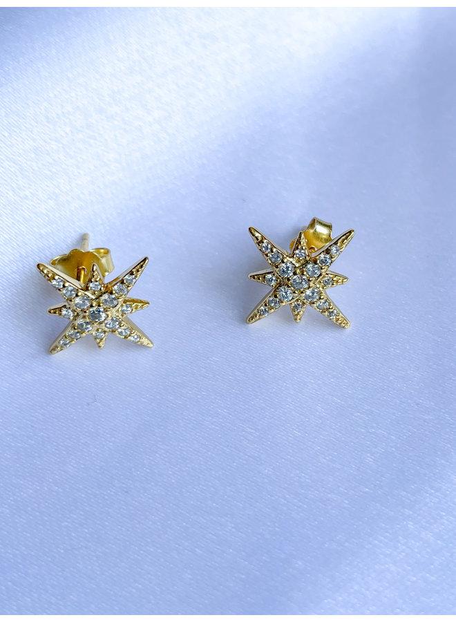 Stella Starburst Earrings Gold