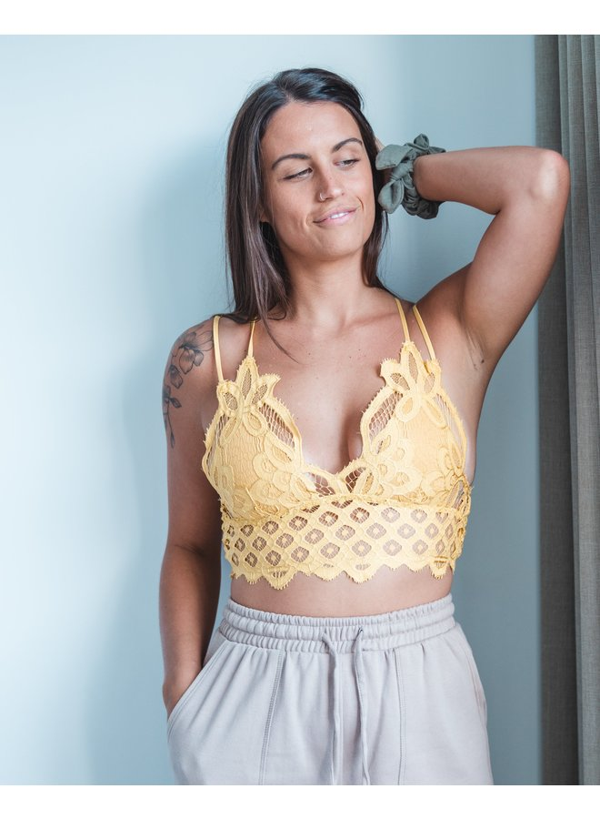Lacey Scalloped Bralette