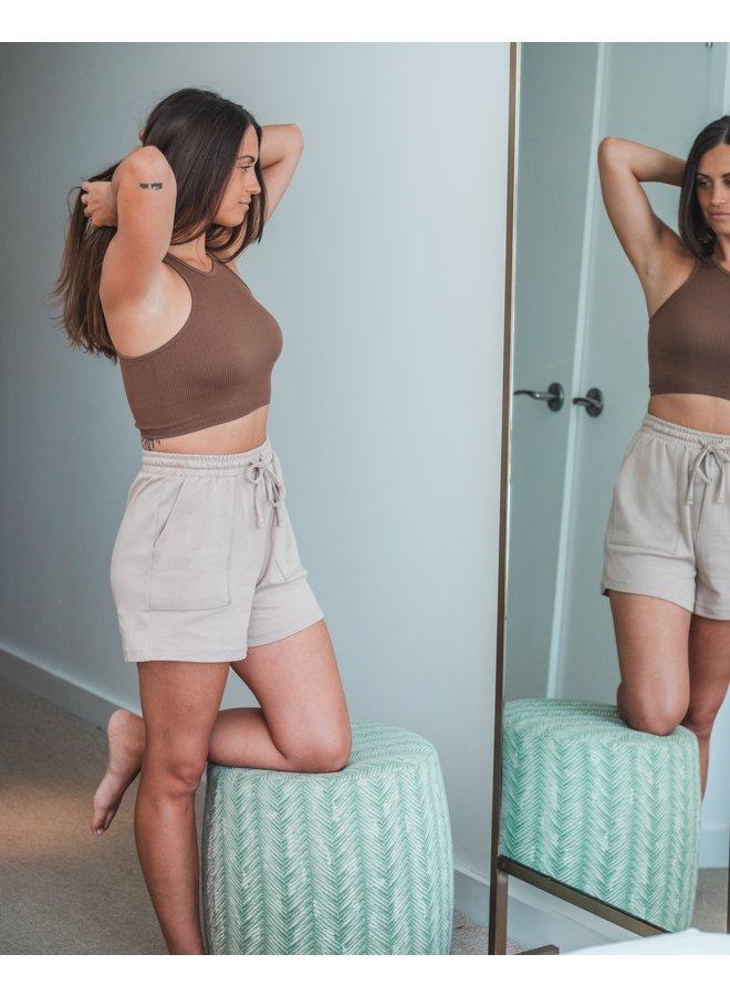Light Cedar Sweat Shorts