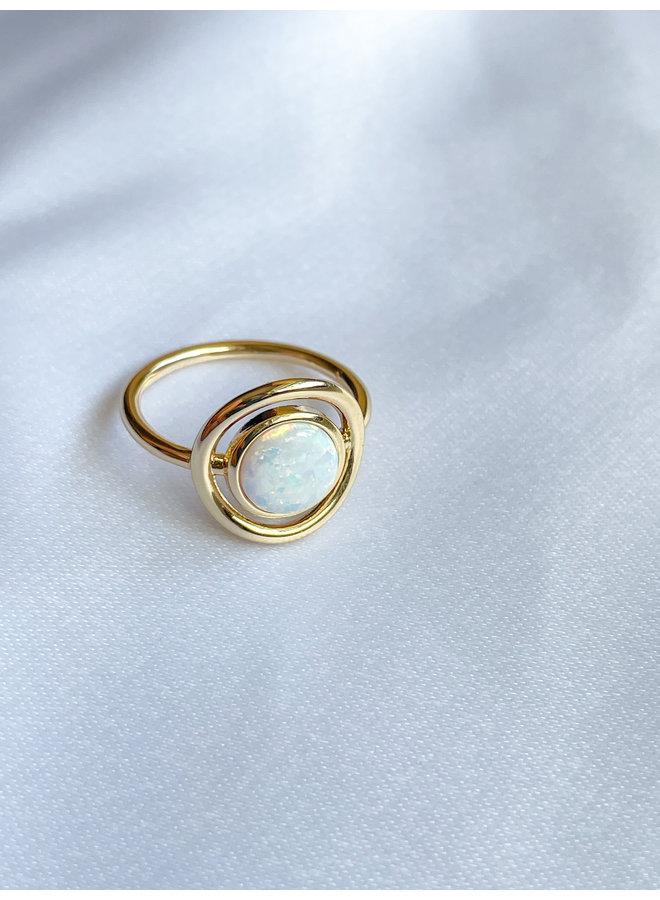 Opalite Circle Of Life Ring