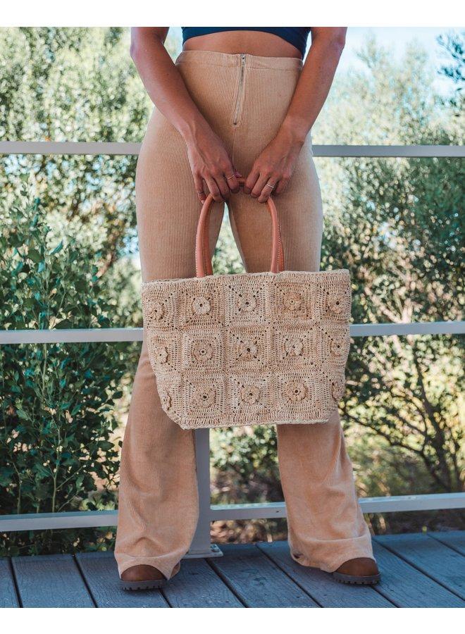 Flower Power Basket Bag