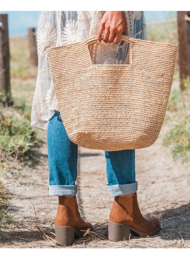 Nat Crochet Bag Basket Shebobo