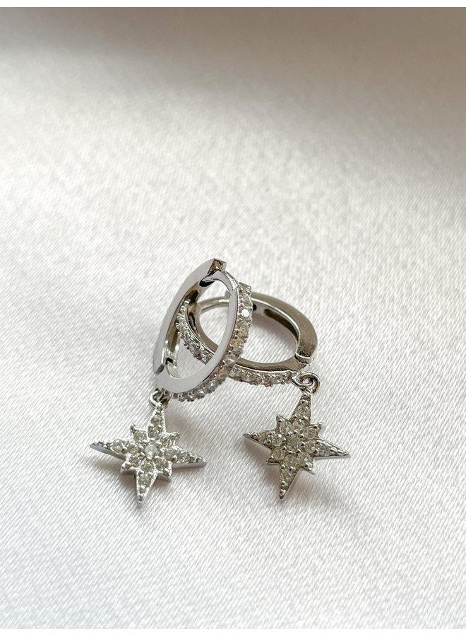 Star Hoops - Sterling Forever