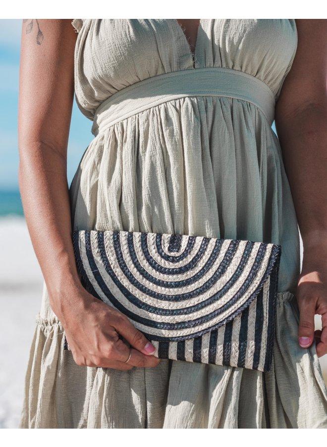 Rat Clutch Wallet Handbag Sq Stripe Clutch