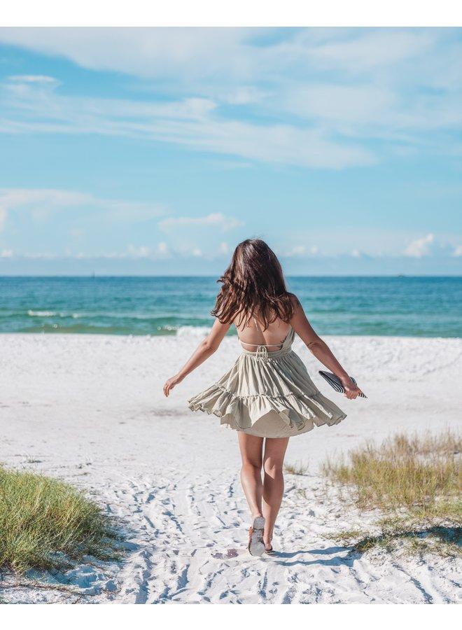 Sage Mini Dress  Halter Babydoll  Lelis