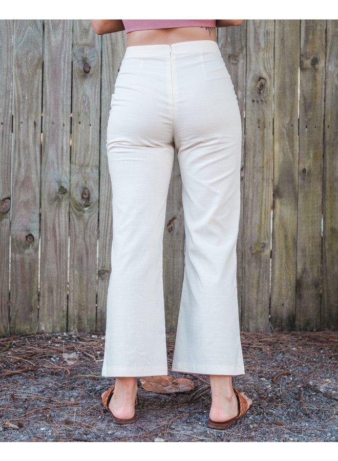 Sadie Sand Wide Leg Dress Pants