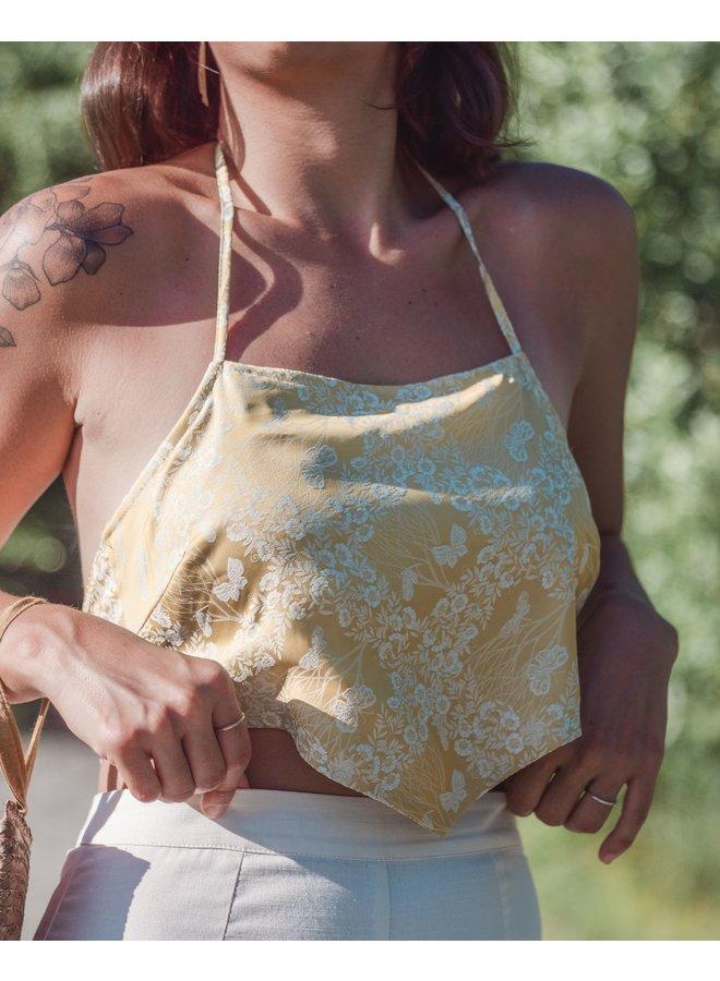 Lola Golden Bandana Crop Top
