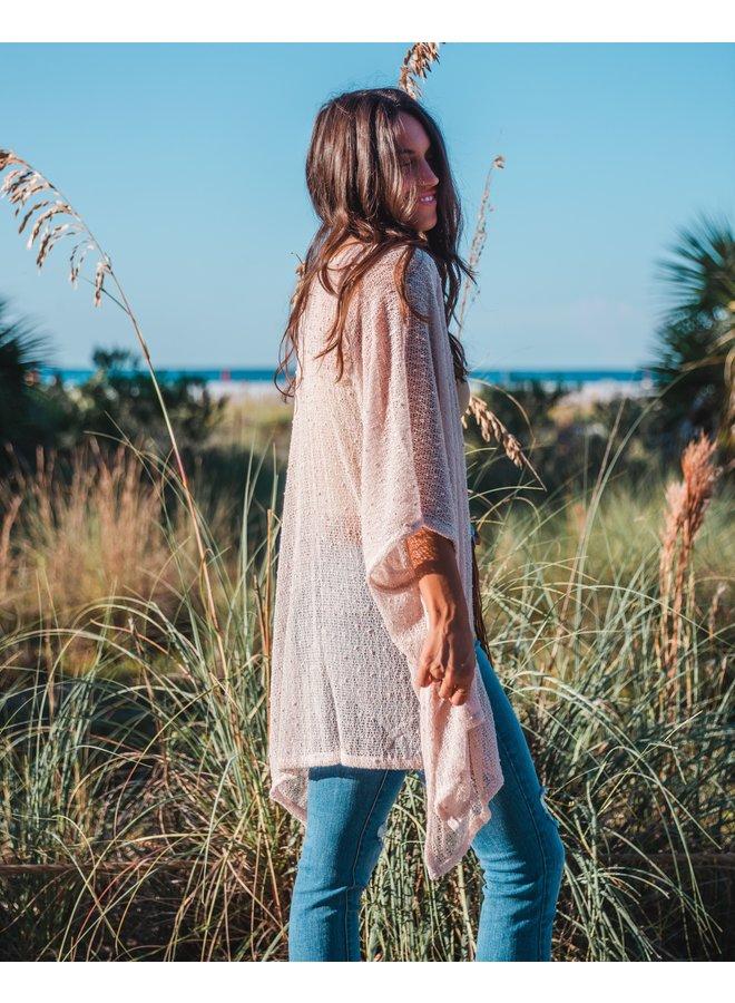 Shine On Natural Knit Kimono