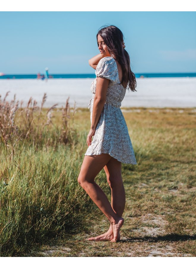 In Blossom Puffy Sleeved Mini Dress