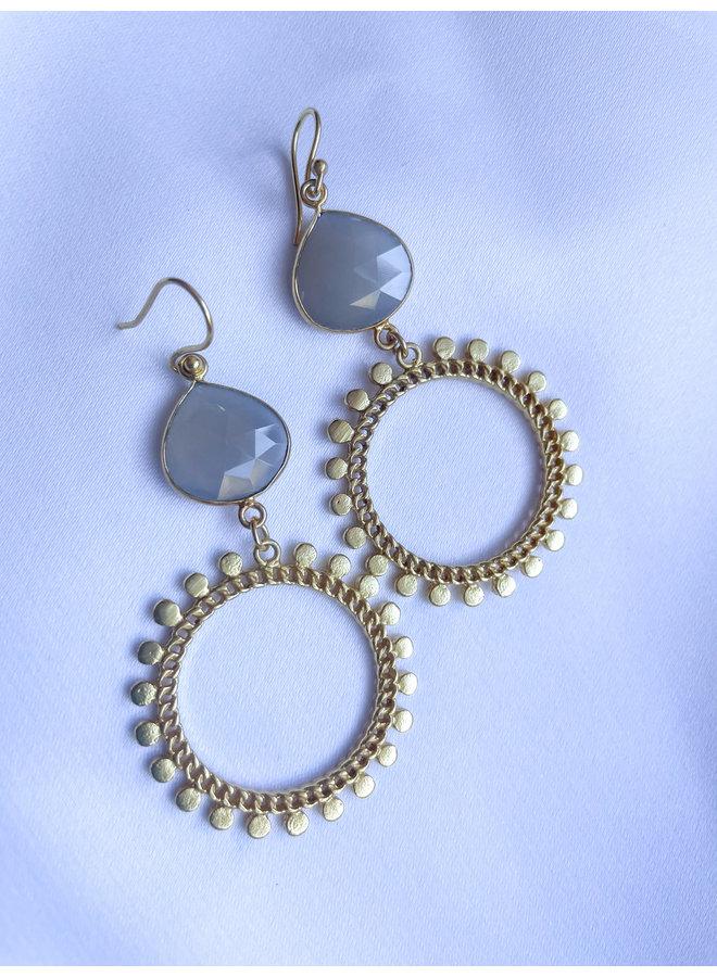 Golden Sun Gemstone Earrings