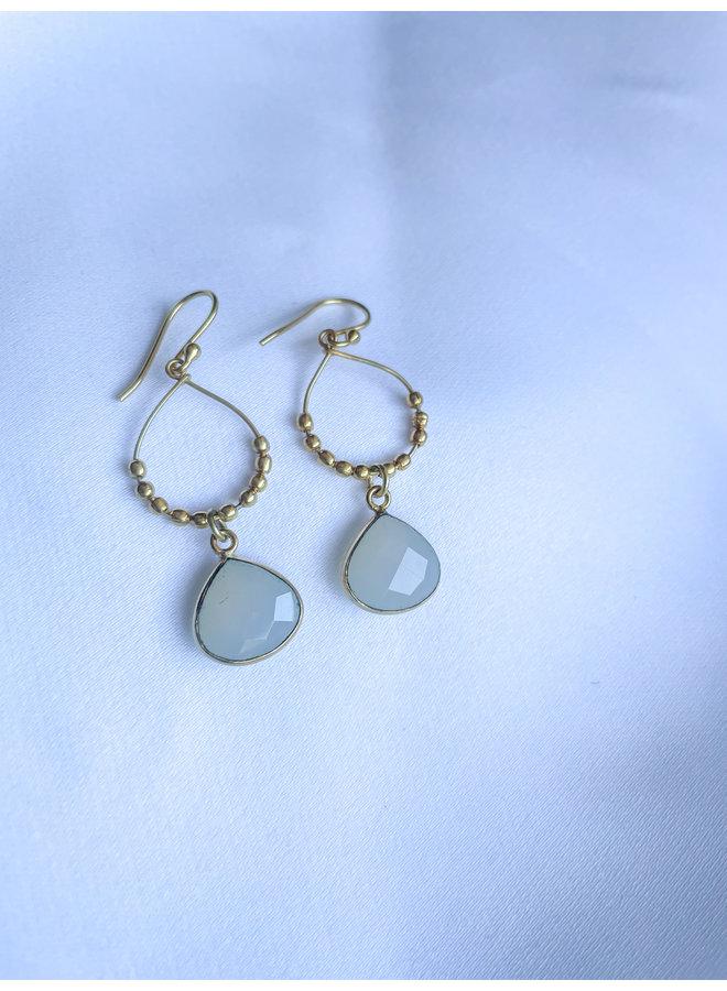 Moonlight White Chalcedony Earrings