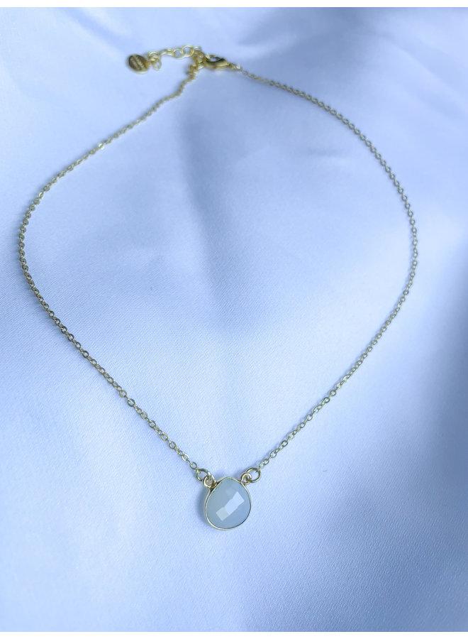 Cosmos Necklace White Chalcedony