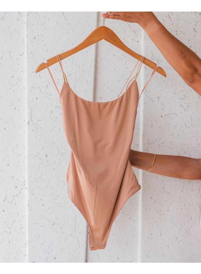 Bodysuit  Sleeveless Back Strap  Lelis