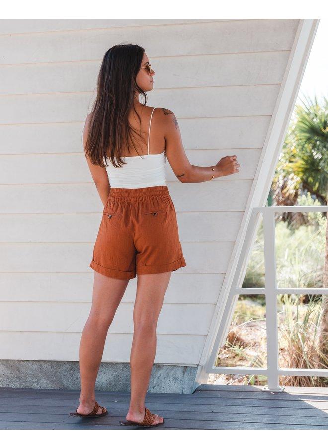 Linen Drawstring Shorts  Zandaya