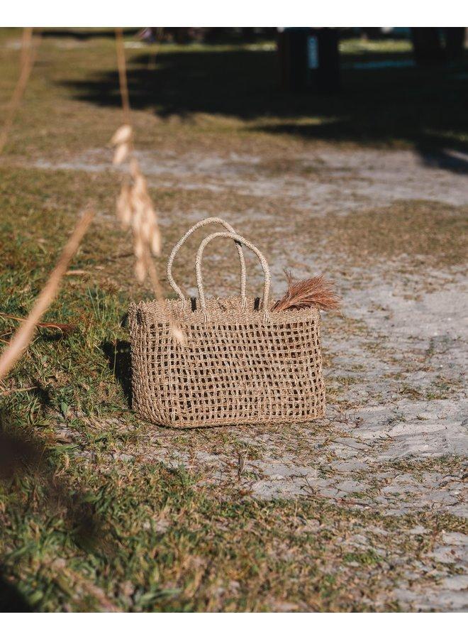 See Through Basket Bag