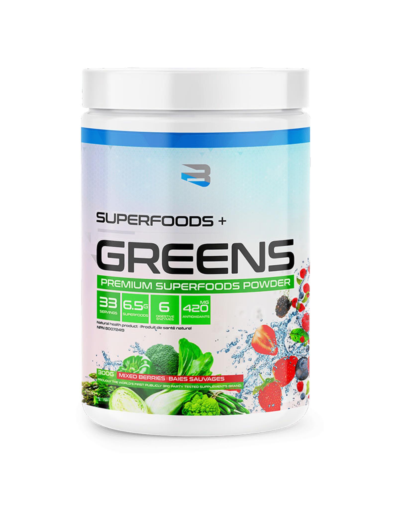 Believe Organics Believe - Superfoods + Greens, Mixed Berries (300g)