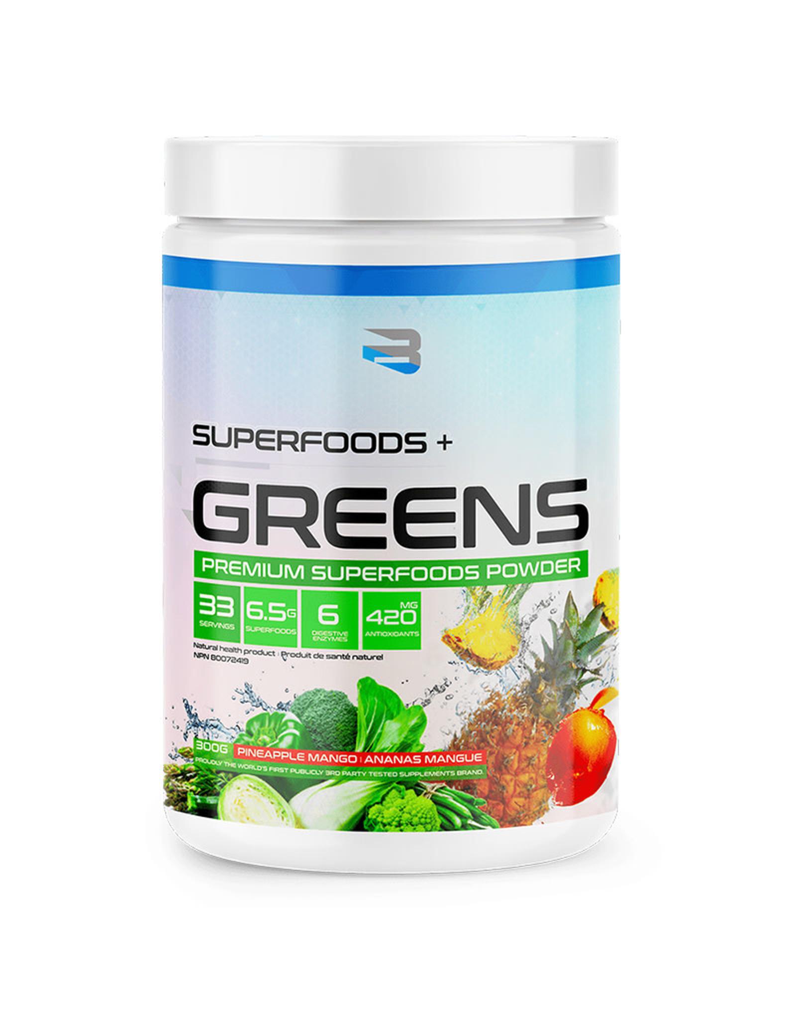 Believe Organics Believe - Superfoods + Greens, Pineapple Mango (300g)