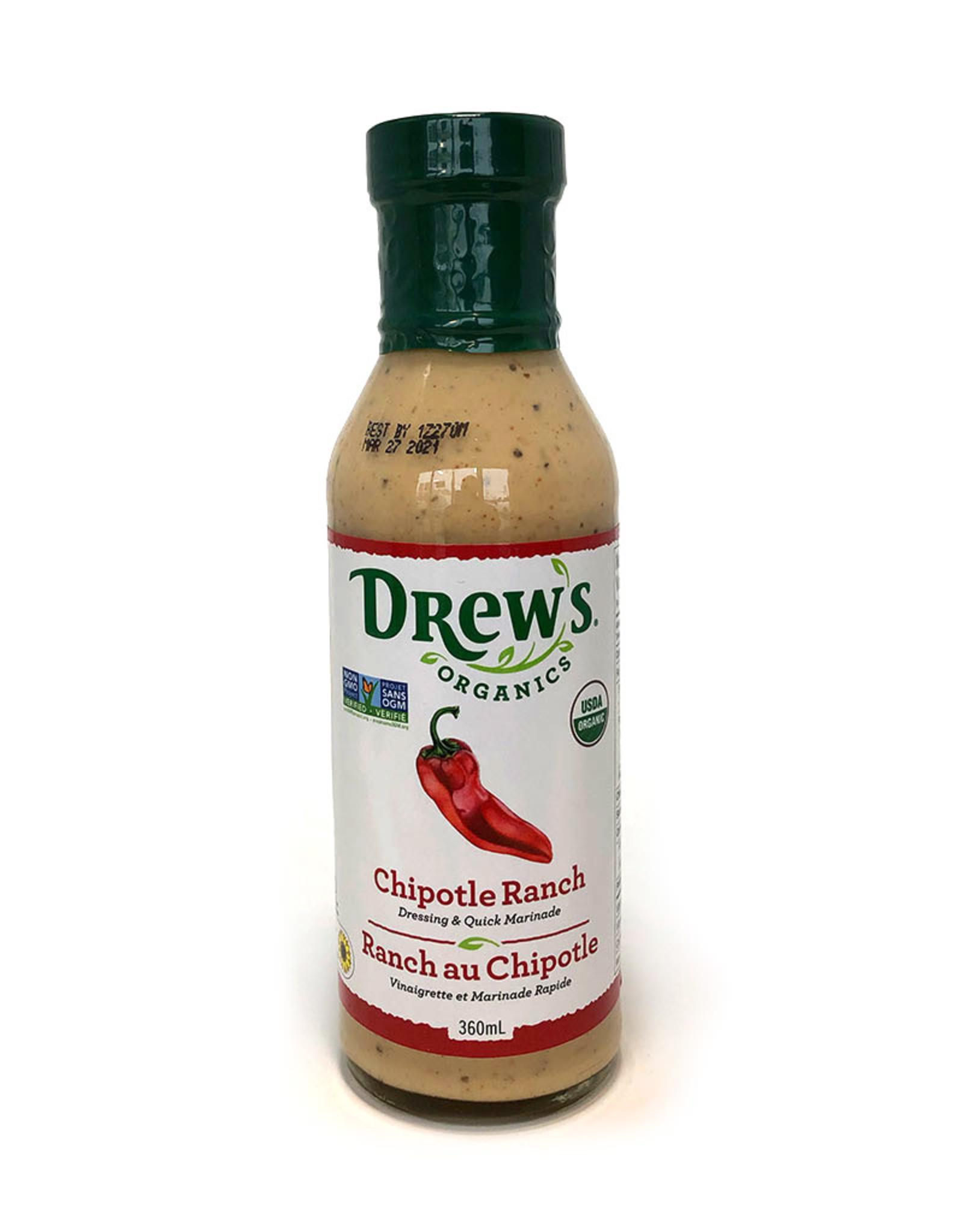 Drews Organics Drews - Organic Dressing, Chipotle Ranch (360ml)