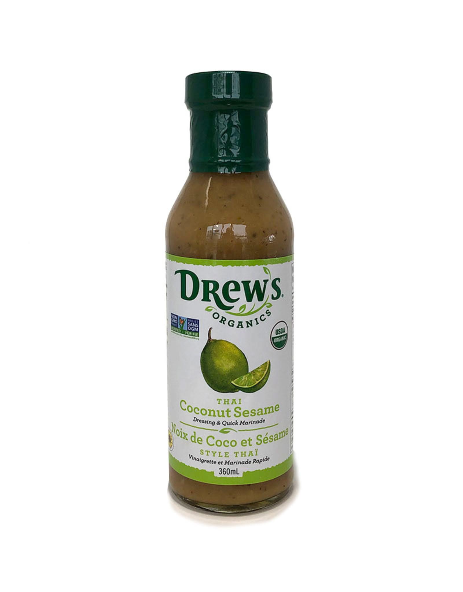 Drews Organics Drews - Organic Dressing, Thai Coconut Sesame (360ml)