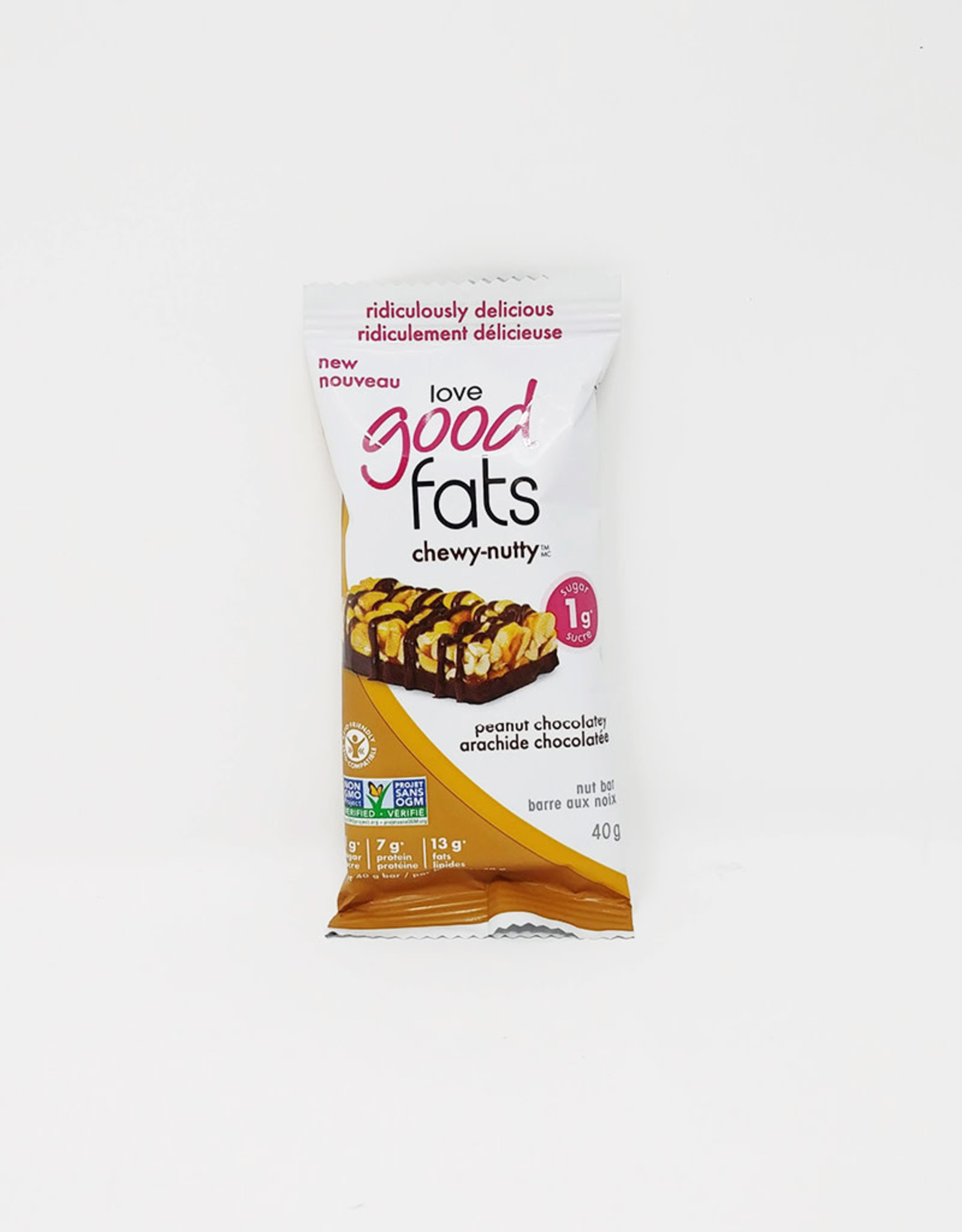Love Good Fats Love Good Fats - Chewy-Nutty, Peanut Chocolate (40g)