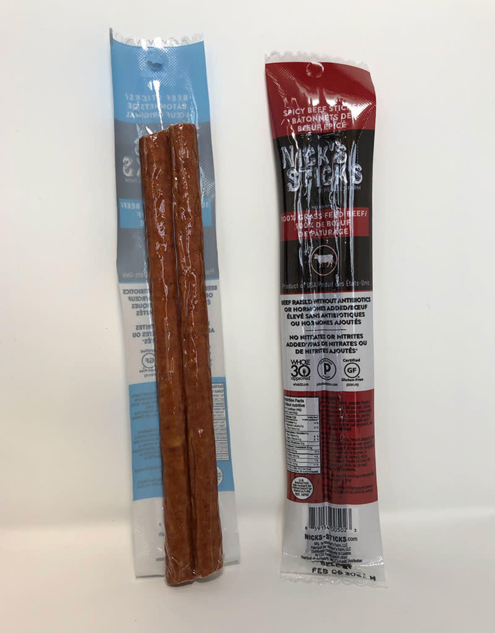 Wenzels Farm Nicks Sticks - Grass Fed Beef Snack Sticks, Spicy
