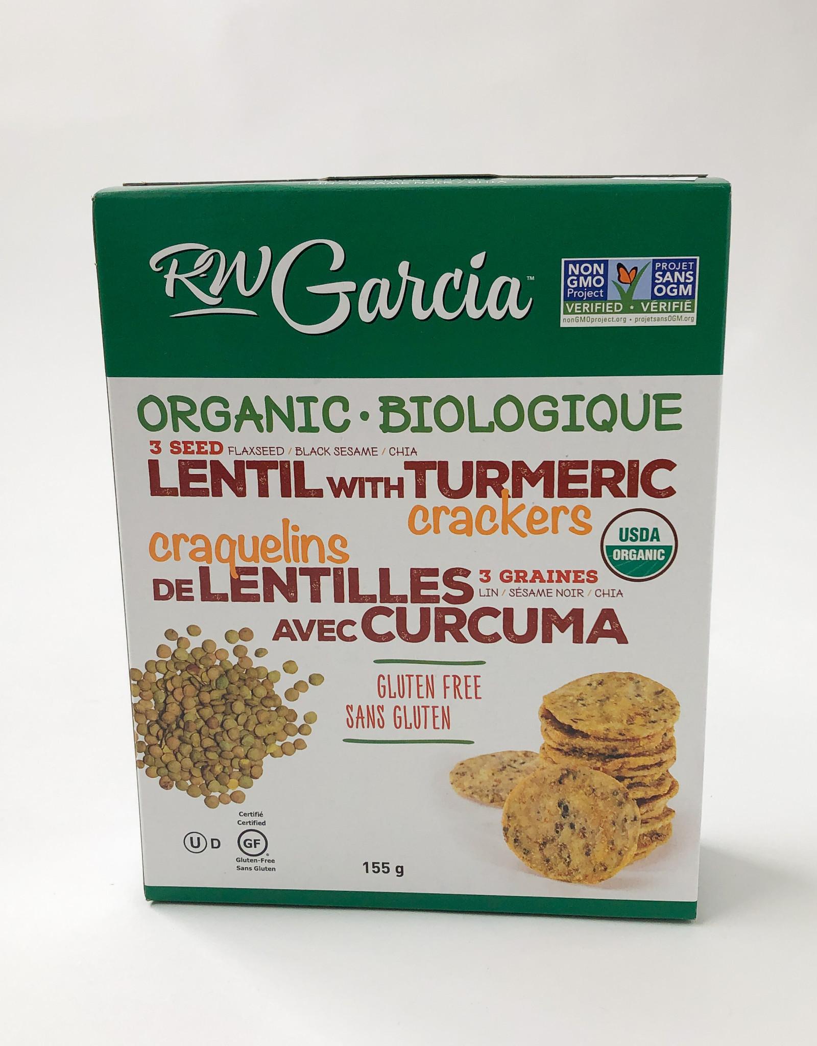 RW Garcia RW Garcia - Lentil Turmeric Crackers, 155g