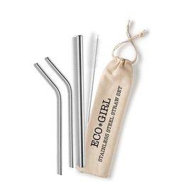EcoFillosophy ECO*phrase Stainless Straw Set