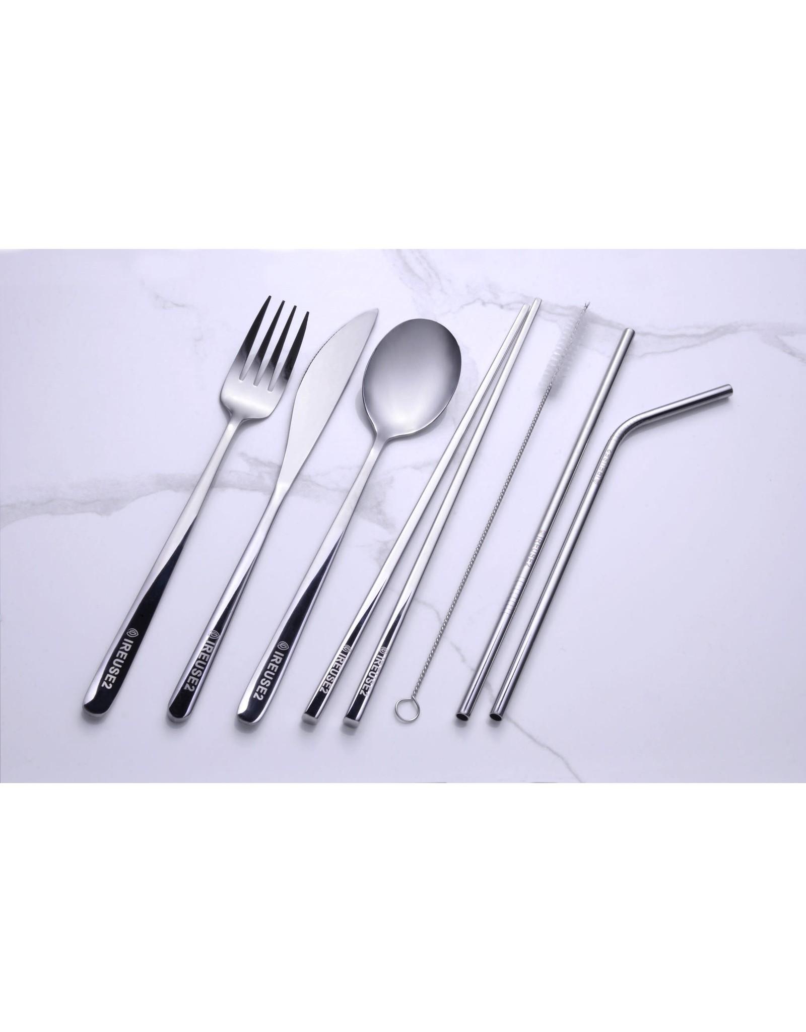 ireuse2 Premium Reusable Cutlery Set - Adult