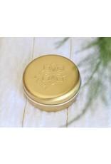 Nazhia Organics Gold Travel Tin for Nazhia Shampoo and Conditioner Bar