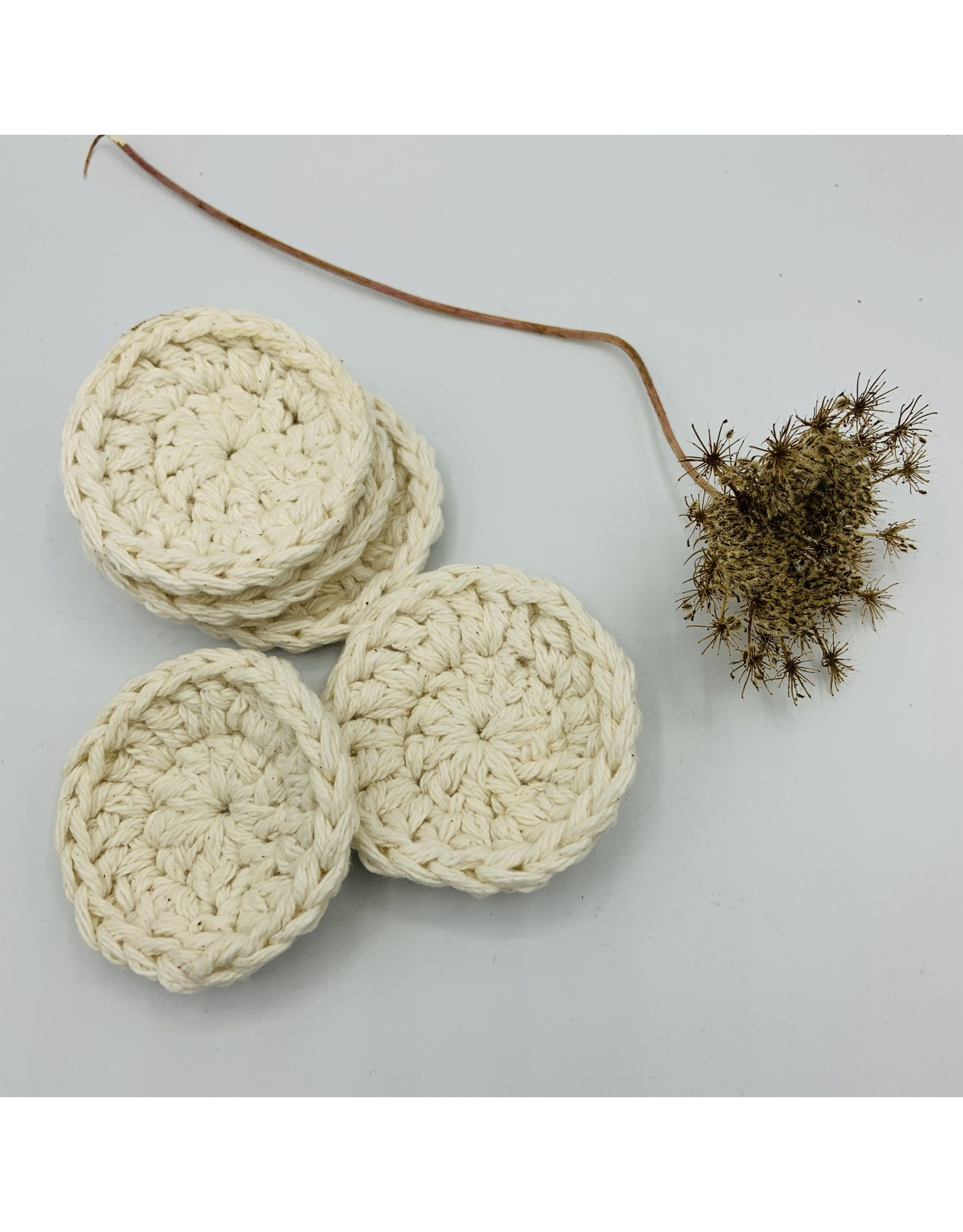 EcoFillosophy Individual Reusable Crochet  Cotton Facial Round  (1 Round)