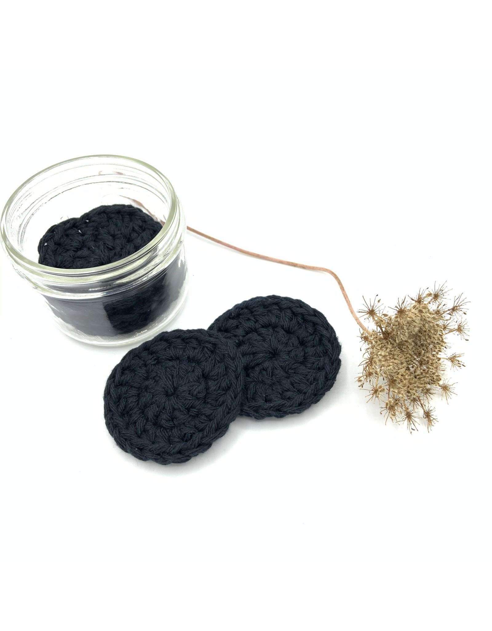 EcoFillosophy Reusable Crochet Cotton Facial Rounds in a Jar (5 Rounds)