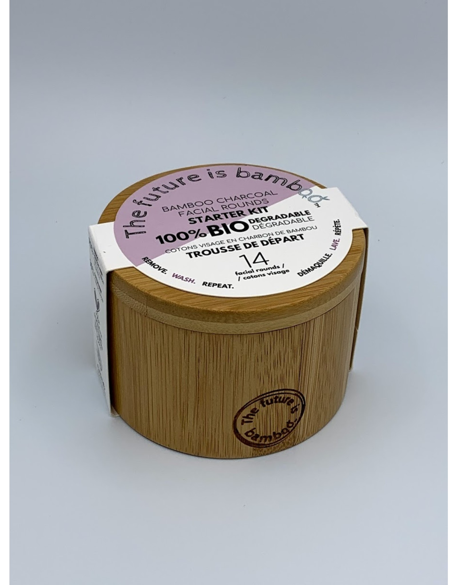 The Future is Bamboo Reusable Bamboo Facial Rounds in Container