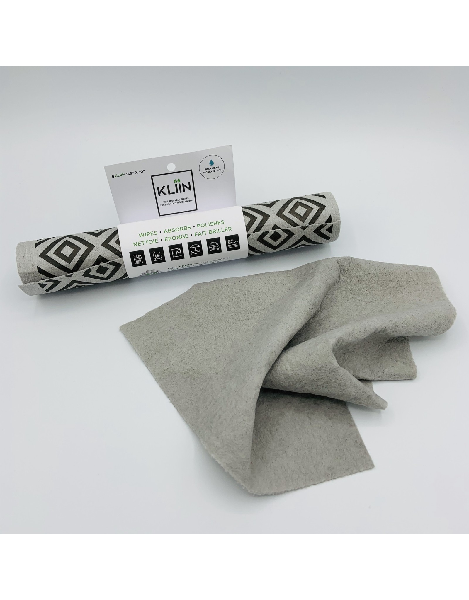 Kliin Organic Inc. Reusable Towels in a Roll by Kliin