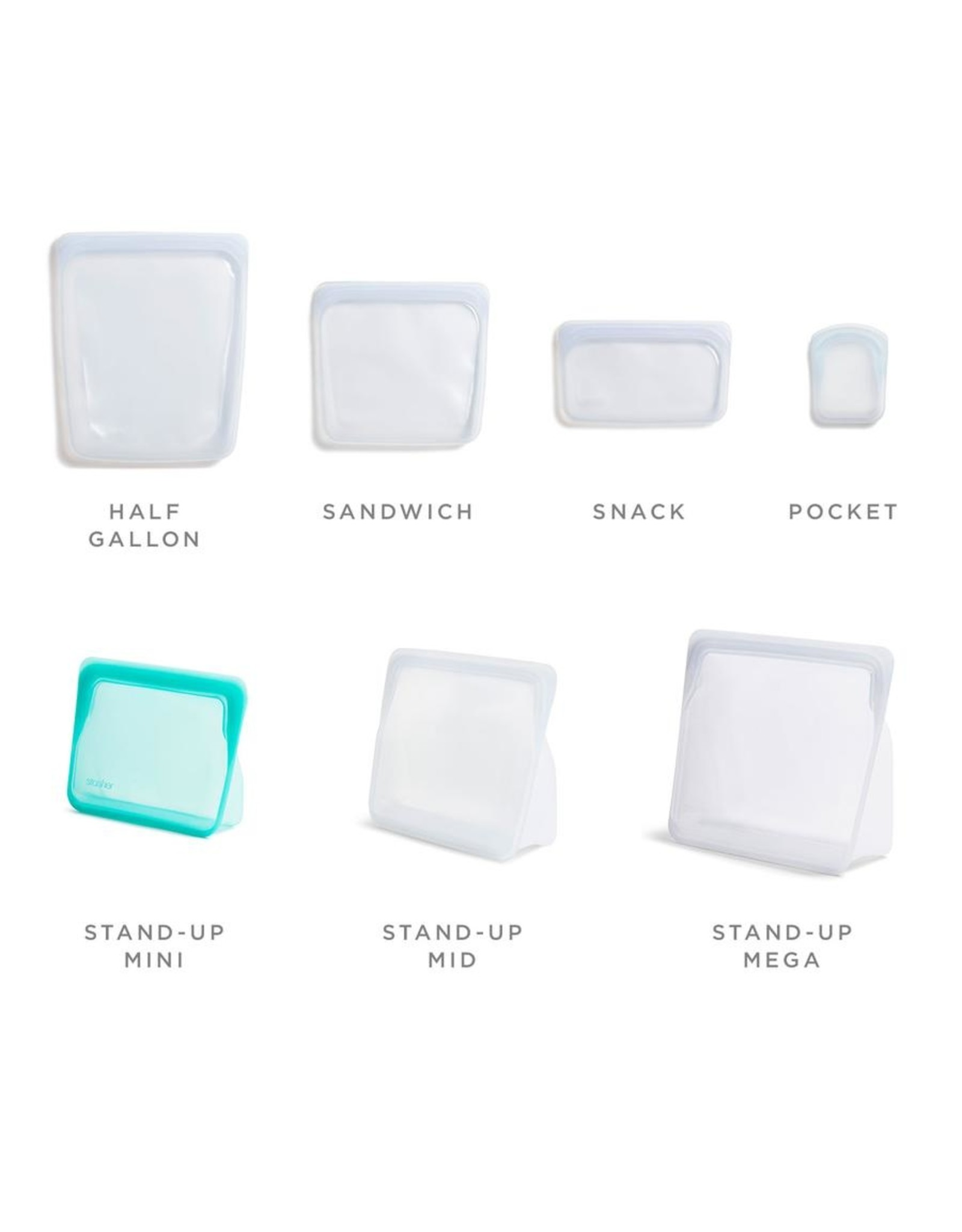 Stasher Reusable Silicone Mini Stand-Up Storage Bag