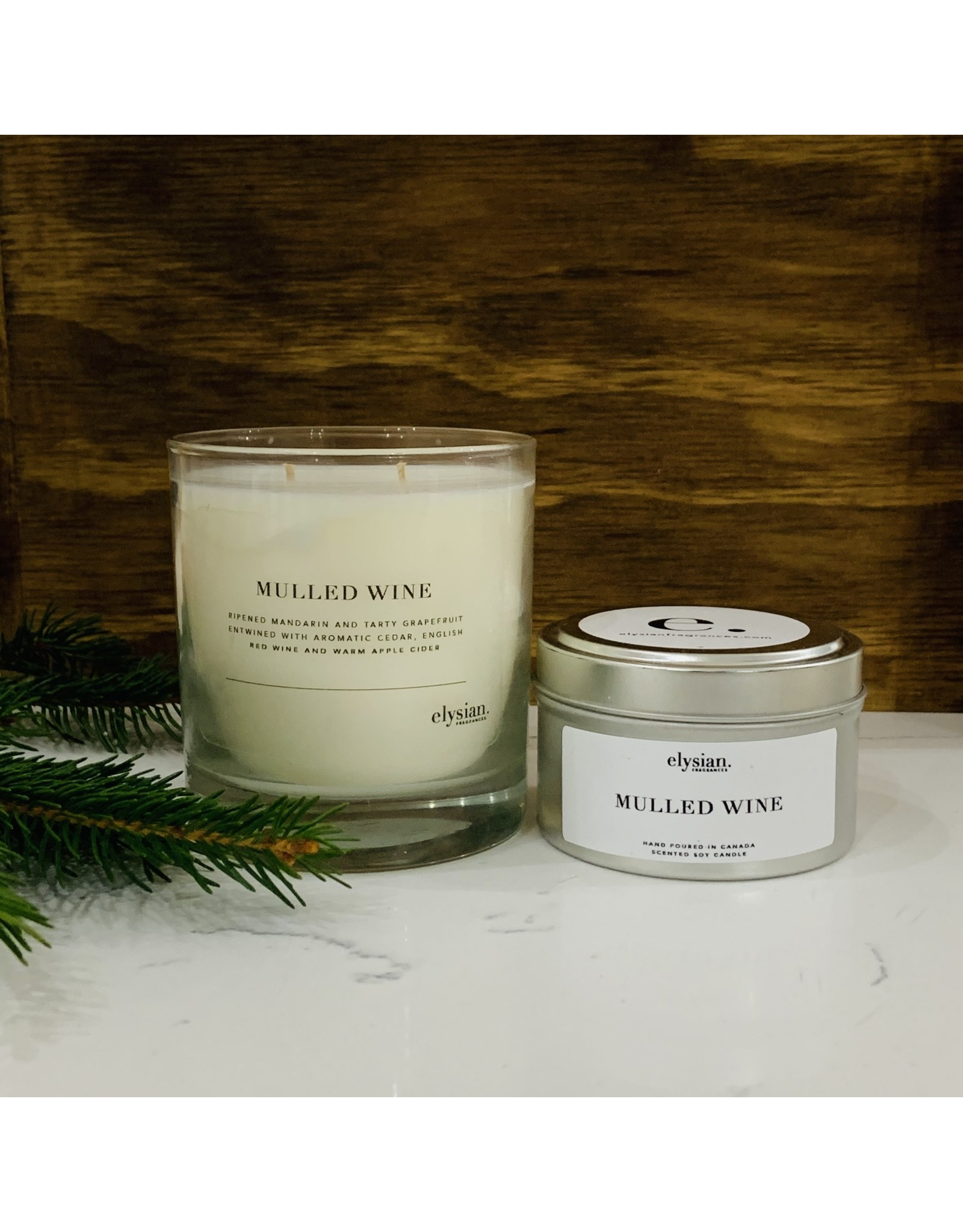 Elysian Fragrances 100% Soy Candle - Limited Edition