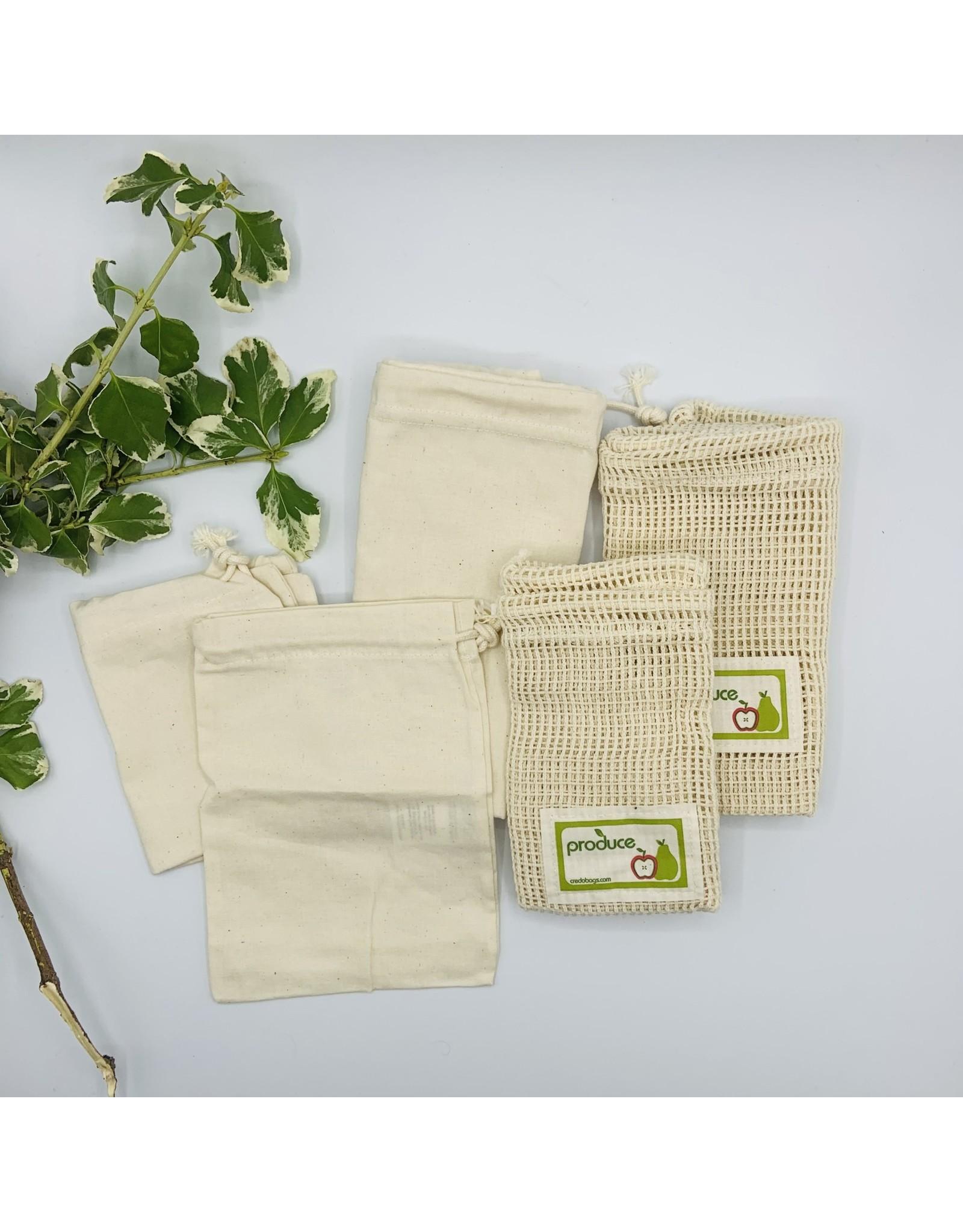 Credo Bags Zero-Waste Starter Set - 5 Reusable Produce and Bulk Bags